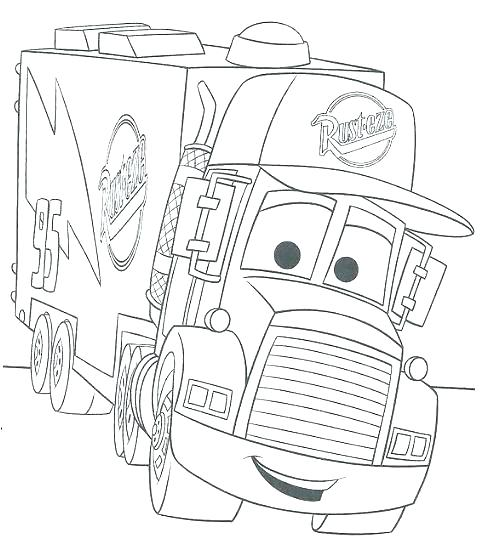 485x546 Cars Coloring Pages Coloring Pages Cars Mater Coloring Page Free