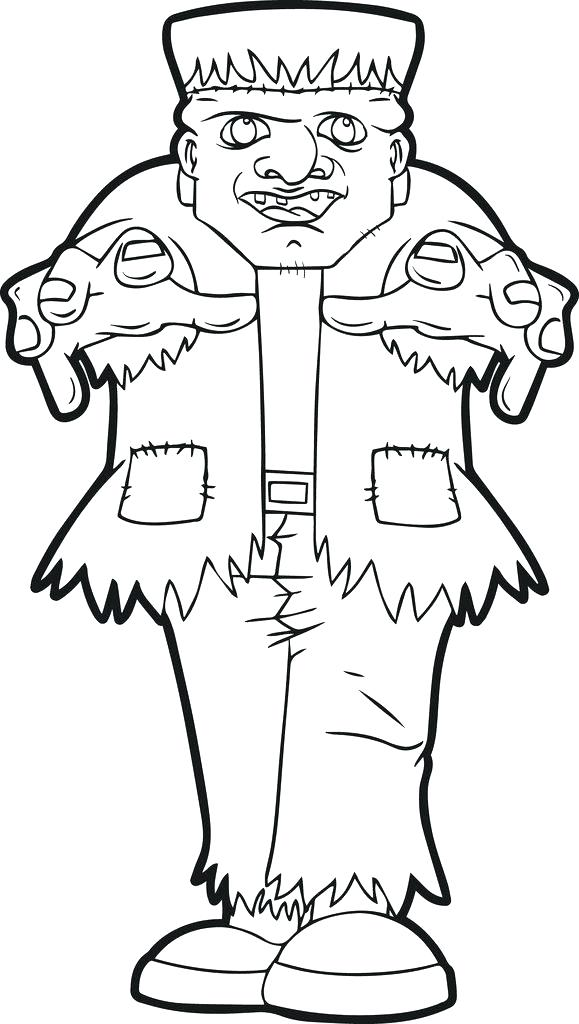 579x1024 Frankenstein Coloring Page Coloring Page Frankenstein Face