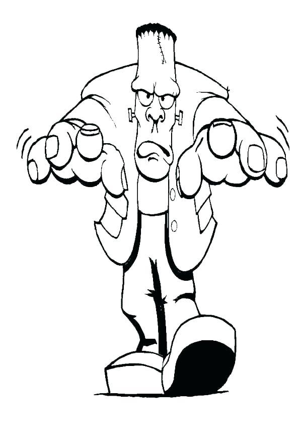 600x859 Frankenstein Coloring Pages Coloring Pages To Print Coloring Page