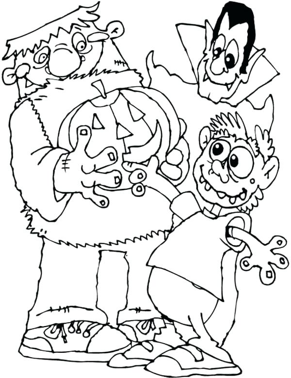 600x779 Frankenstein Coloring Pages Coloring Trend Medium Size Clip Art