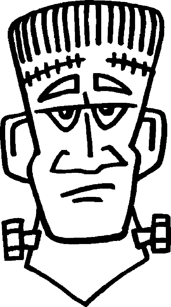728x1302 Frankenstein Coloring Pages For Adults Halloween Printable Head