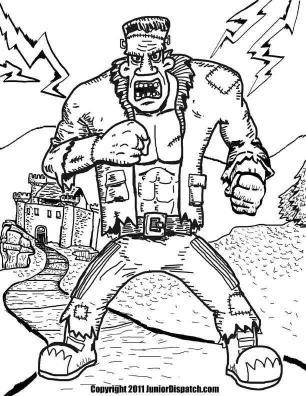 612x792 Frankenstein Coloring Pages Printable