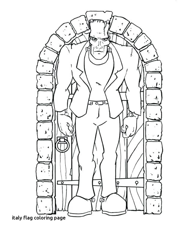 600x777 Frankenstein Coloring Pages To Print Vodacifo For Italy Flag