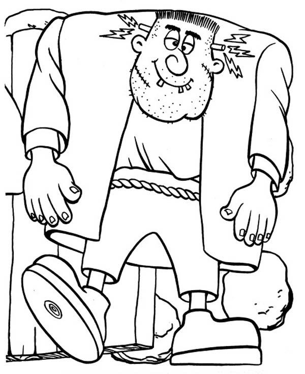 600x736 Big Frankenstein Coloring Page