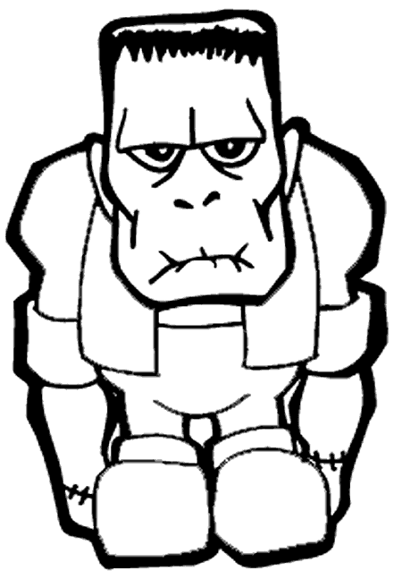 441x638 Frankenstein Coloring Pages Halloween Frankenstein Coloring Pages