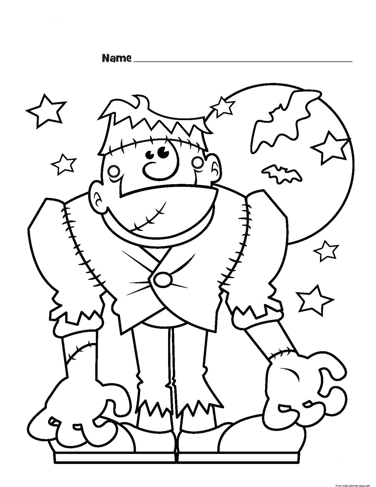 1275x1650 Halloween Frankenstein Coloring Pages Printable For Kids
