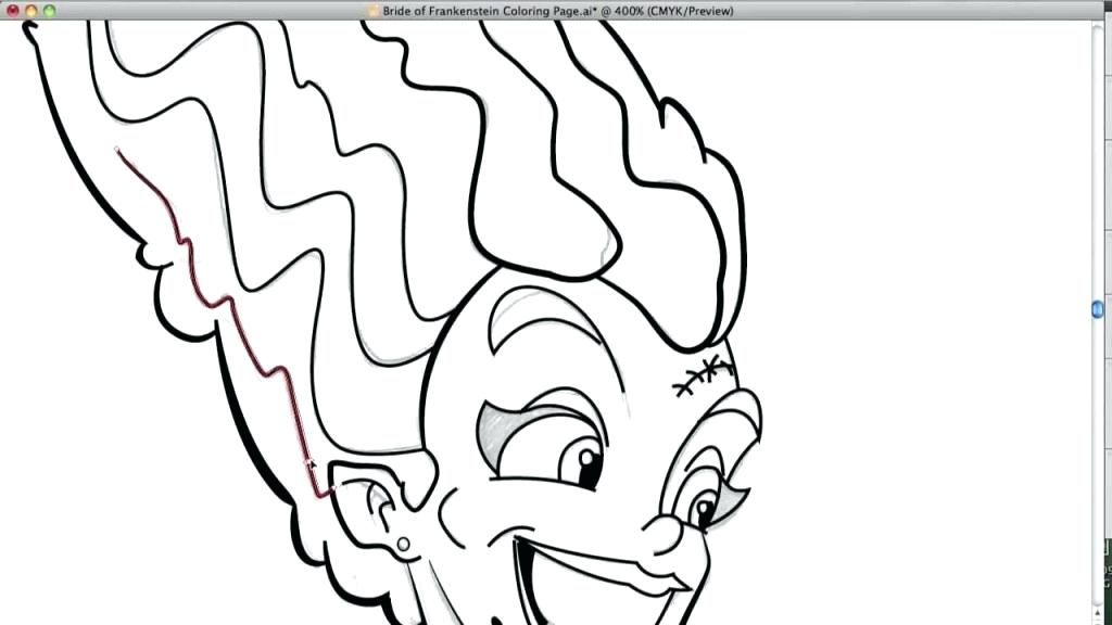 1024x576 Bride Of Frankenstein Coloring Pages