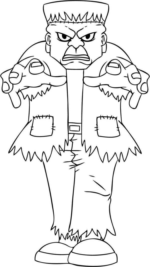 600x1068 Terrific Frankenstein Coloring Page