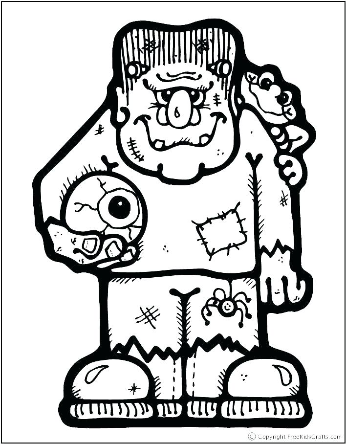708x908 Frankenstein Coloring Page
