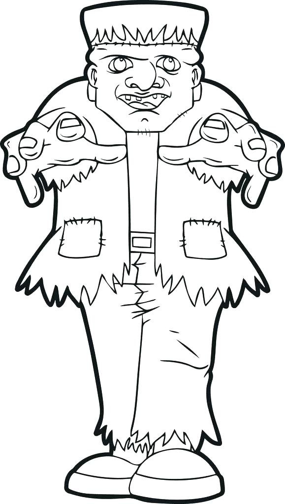 579x1024 Frankenstein Coloring Pages To Print