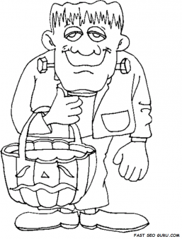 257x338 Printable Halloween Frankenstein Coloring Pages