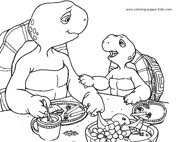 590x465 Franklin Coloring Pages Awesome Coloring Pages Fee The Turtle