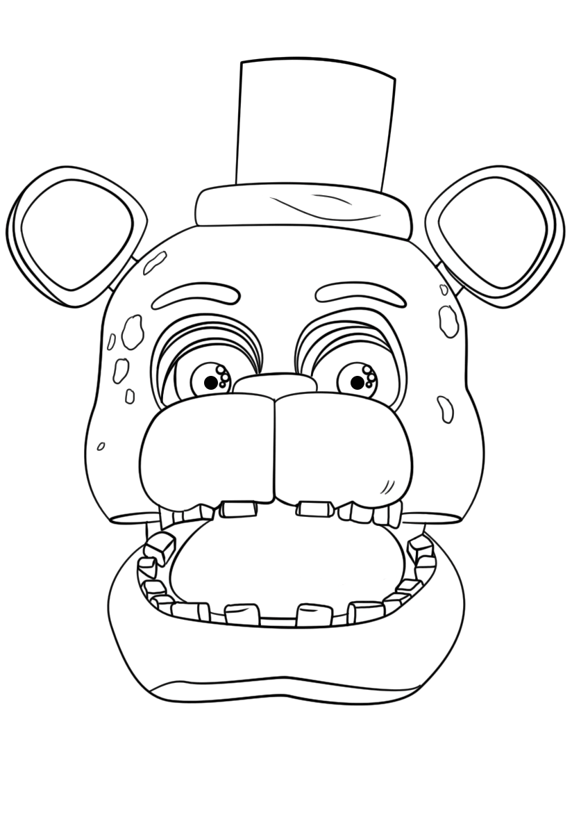 Freddy Fazbear Coloring Page at GetDrawings com   Free for