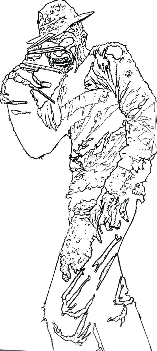 Freddy Krueger Coloring Pages At Getdrawings Com Free For Personal