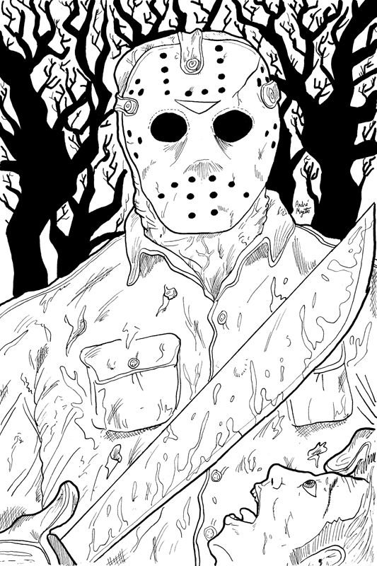 Freddy Vs Jason Coloring Pages