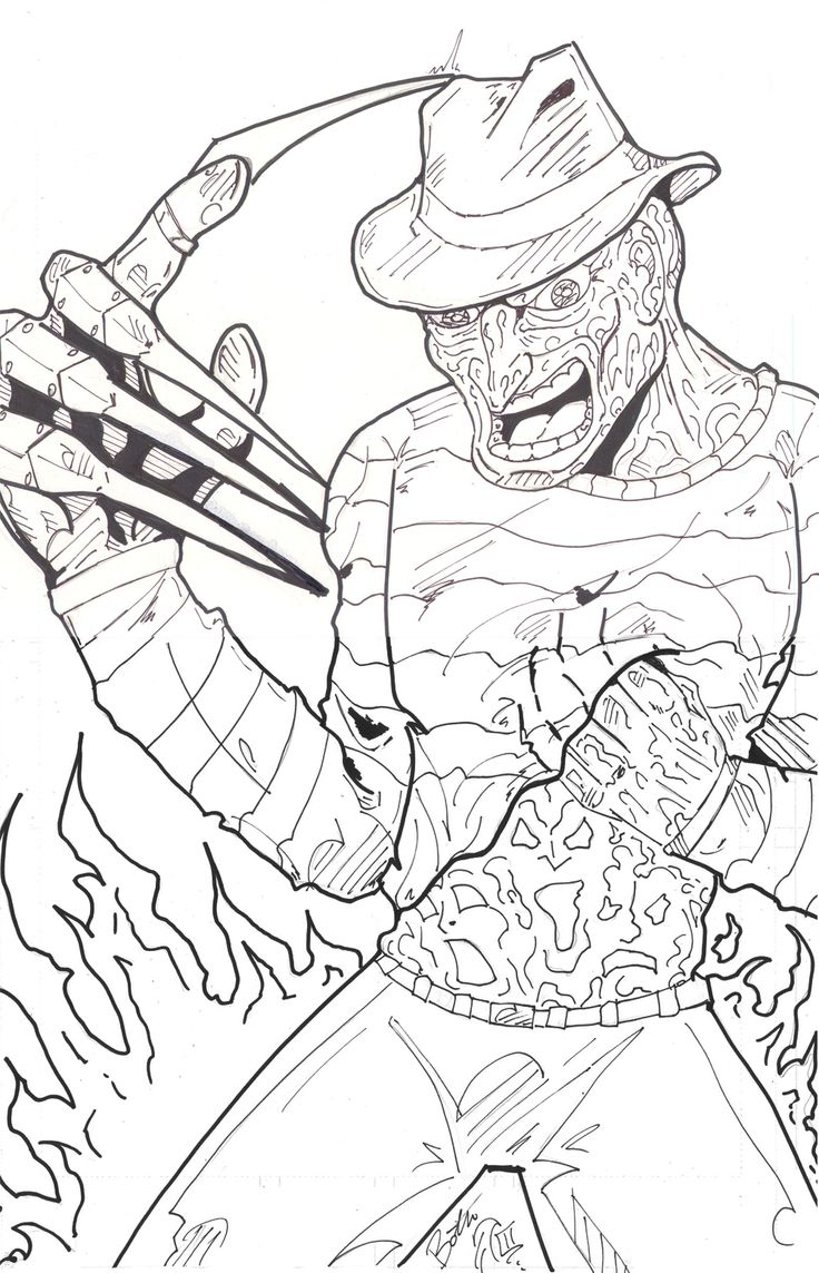 Freddy Vs Jason Coloring Pages at GetDrawings   Free download