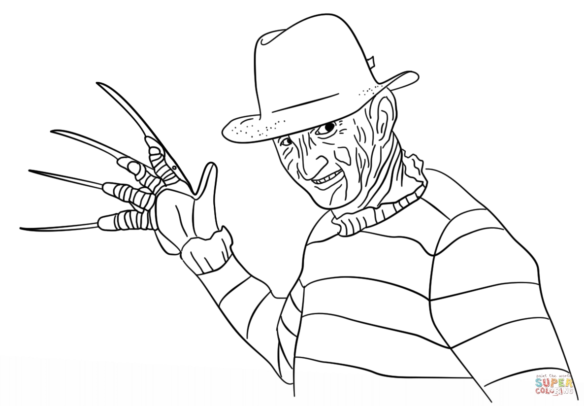1186x824 Exelent Freddy Vs Jason Coloring Pages Embellishment