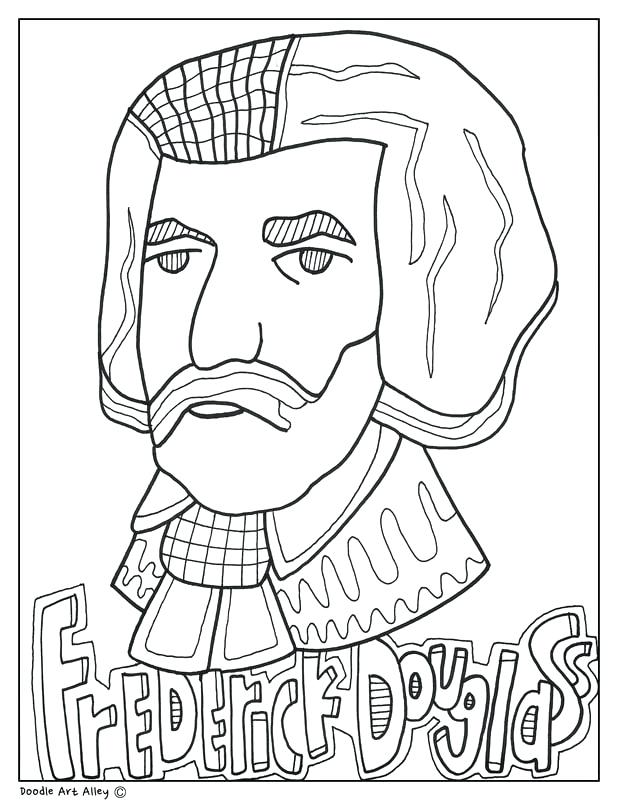618x800 Frederick Douglass Coloring Page Picture Top Rated Coloring Pages