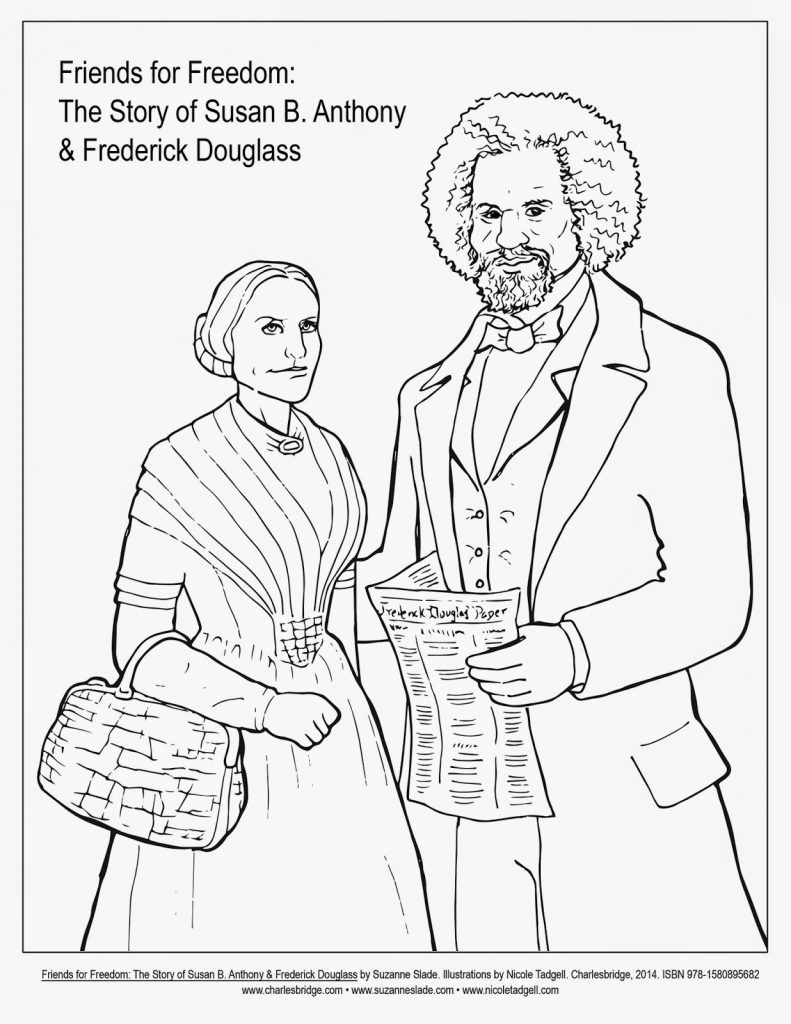 791x1024 Frederick Douglass Coloring Page