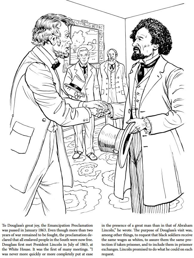 650x864 Frederick Douglass Coloring Book Dover Publications Coloring