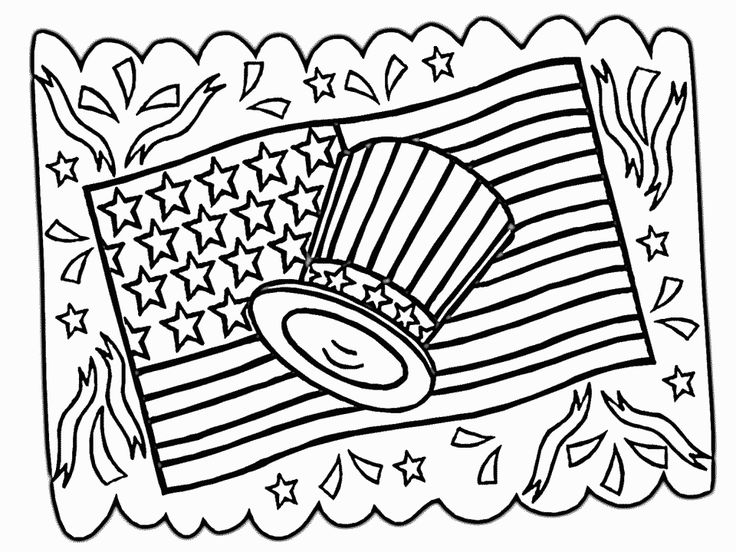 736x552 Of July Coloring Pages