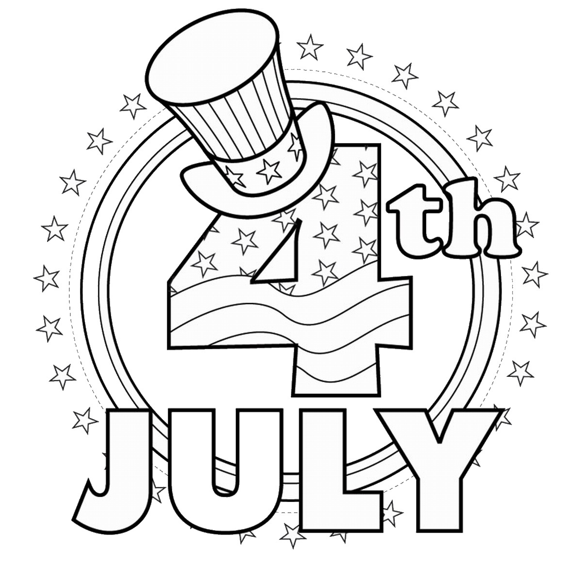 1200x1200 Fourth Of July Coloring Pages