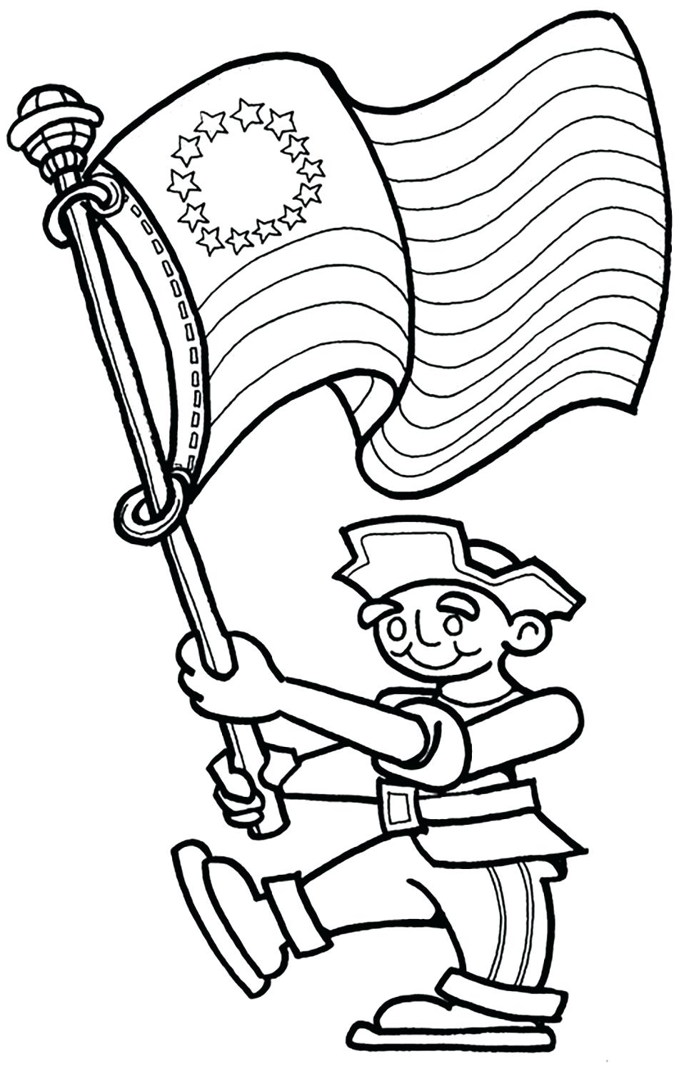 972x1497 Coloring Pages Of July Coloring Pages Flag For Sunday School