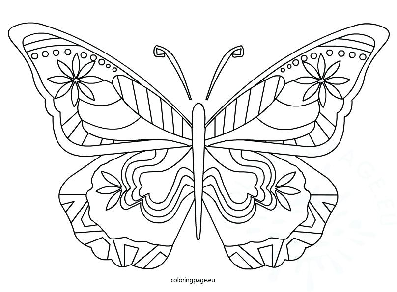 808x595 Free Downloadable Butterfly Coloring Pages Beautiful For Preschool