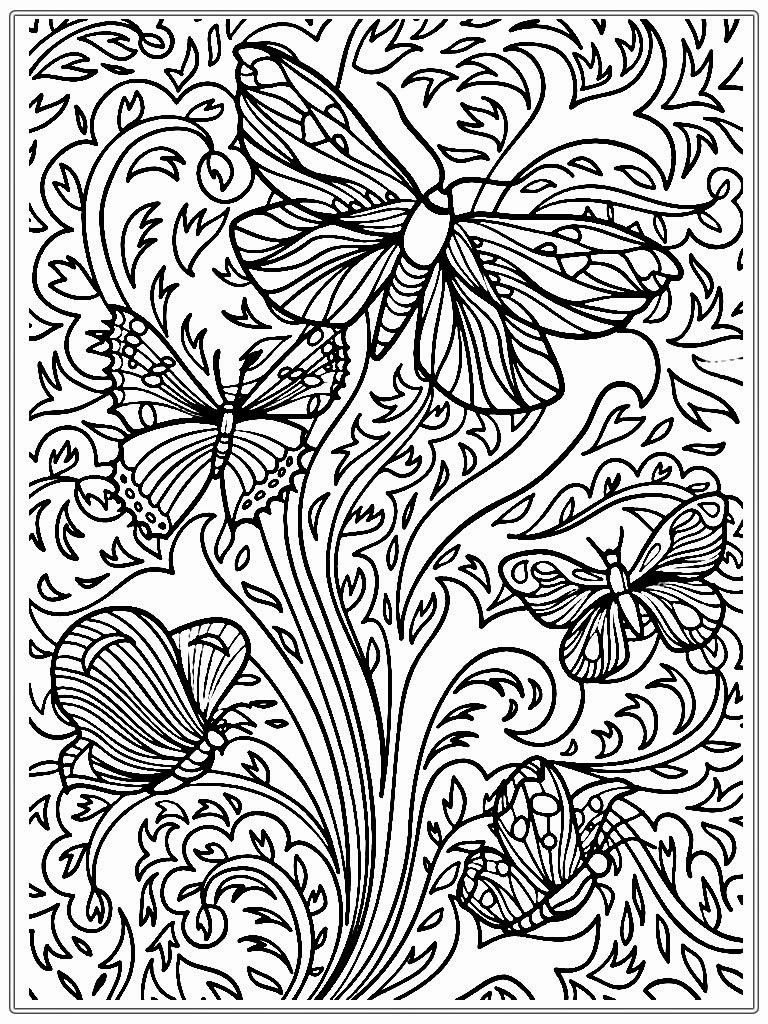 768x1024 Free Printable Adult Butterfly Coloring Pages To Print Coloring