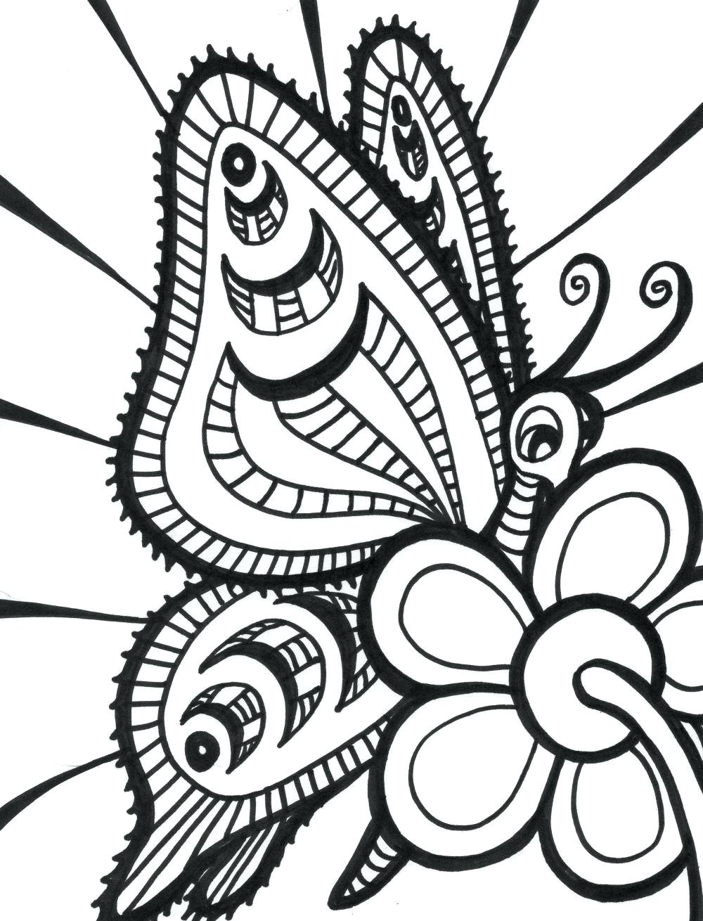 1000x1310 Free Printable Butterfly Coloring Pages For Kids Adults Crayola