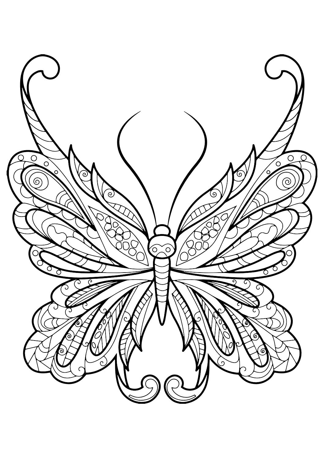 1059x1497 Best Of Adult Butterfly Coloring Book Free Coloring Pages Download