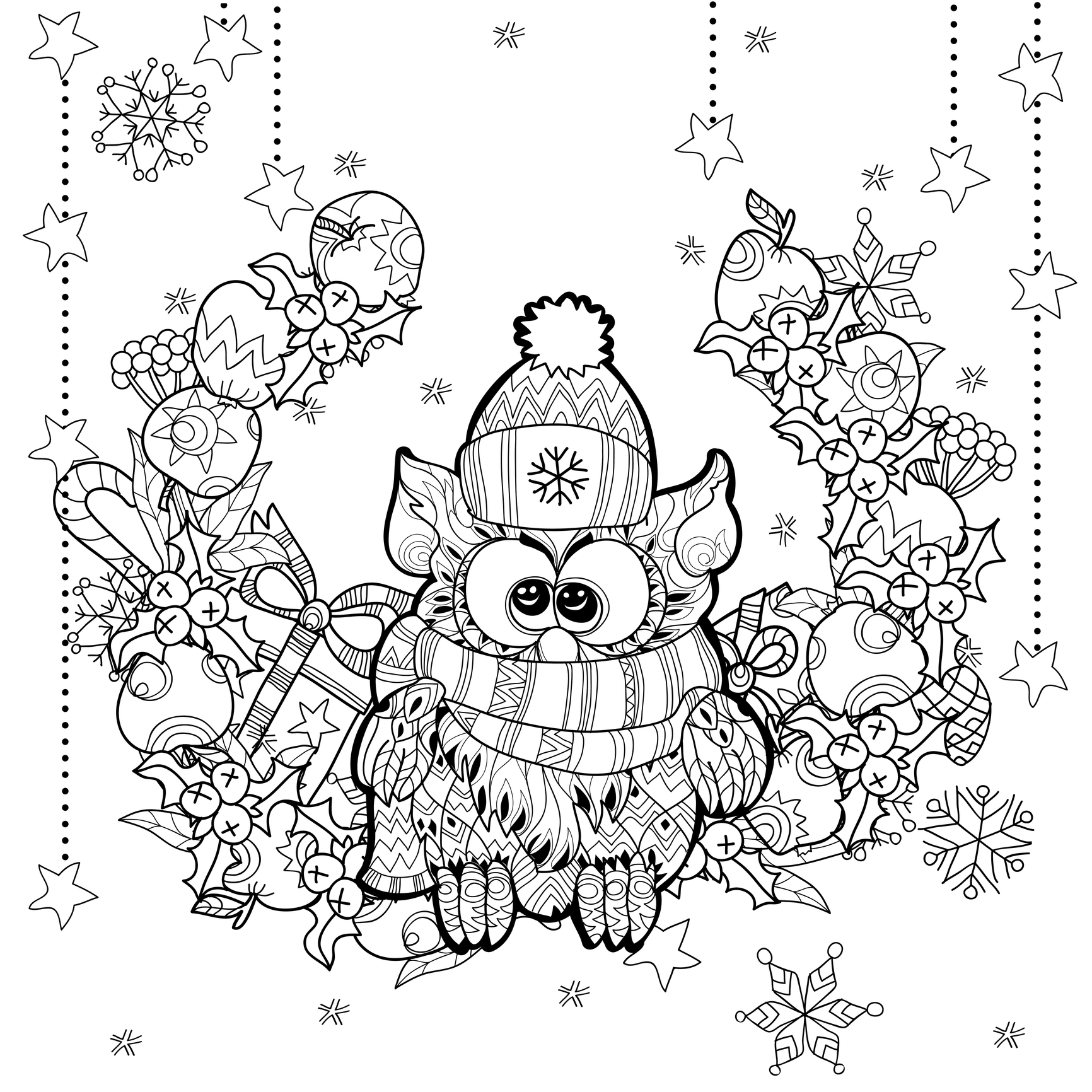 Free Adult Christmas Coloring Pages at GetDrawings.com ...