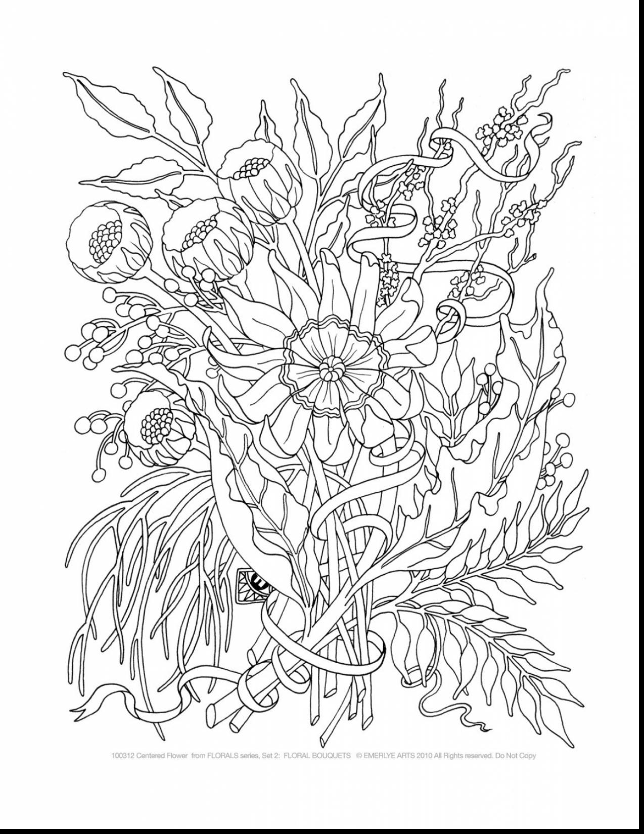 1274x1650 Surprising Printable Adult Coloring Pages Flowers With Free