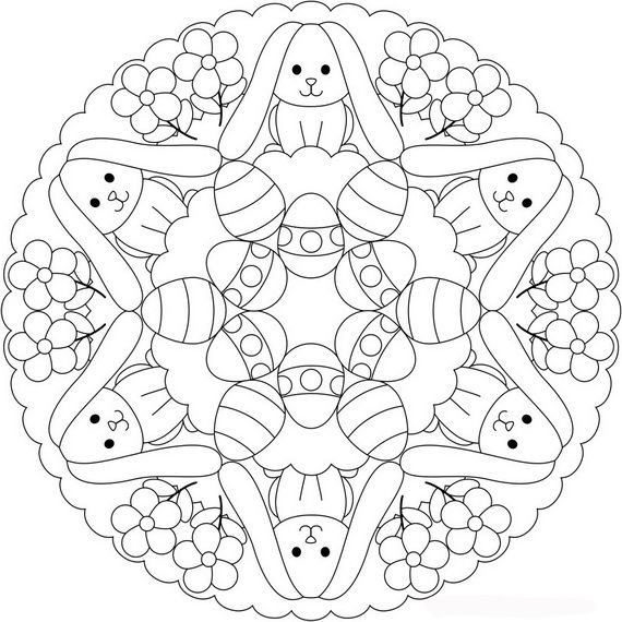 Free Adult Easter Coloring Pages