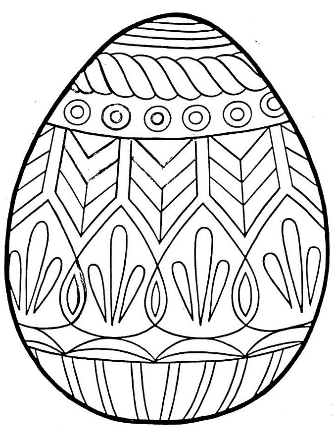 675x900 Easter Eggs Coloring Pages