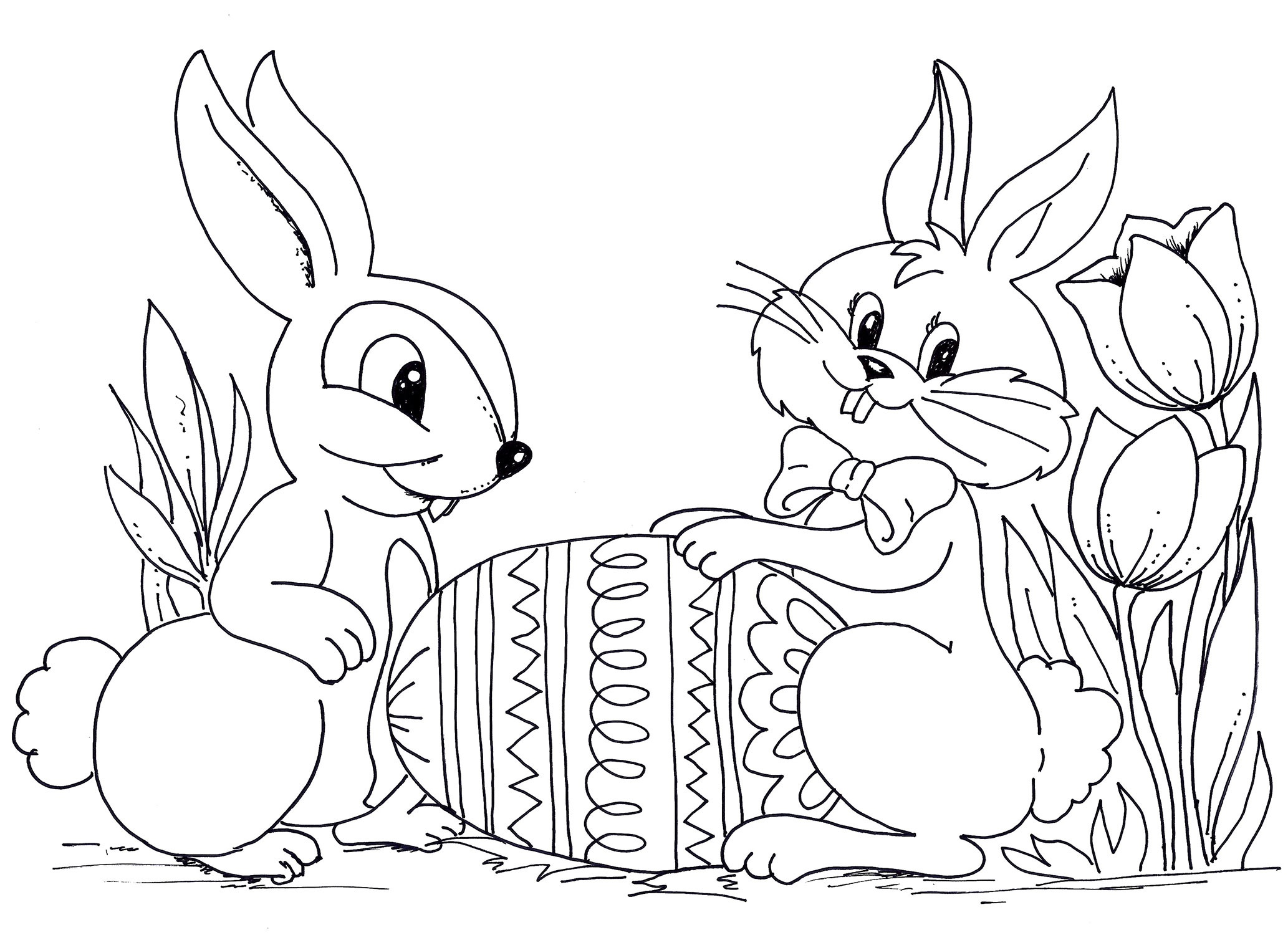 2066x1500 Free Printable Adult Coloring Pages Rabbits Download Coloring Sheets