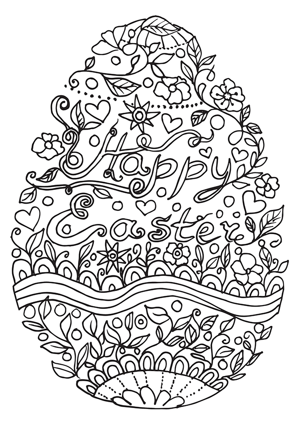 621x877 Great Easter Coloring Pages For Adults With Additional Intended
