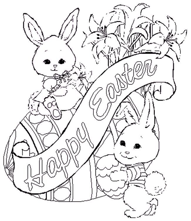 650x750 Best Easter Coloring Pages For Adults Images