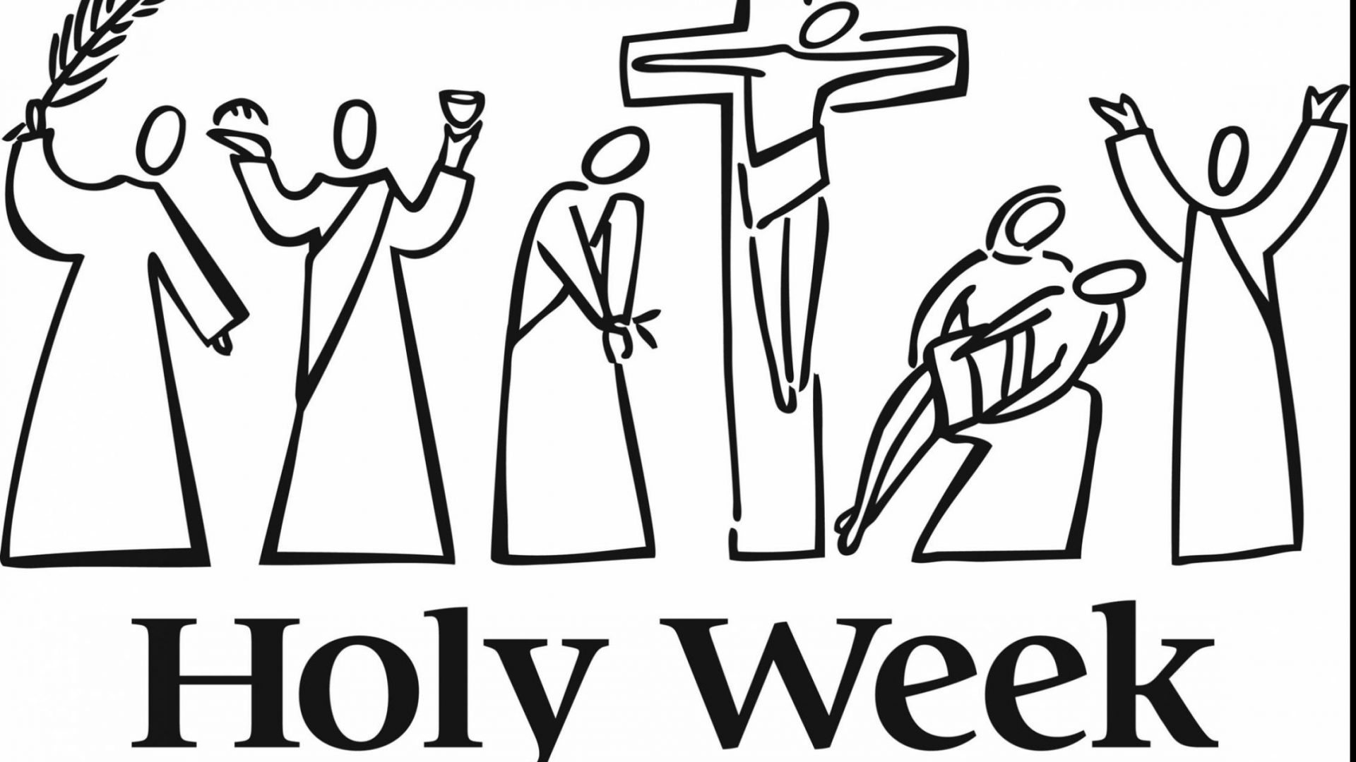 1920x1080 Lent Easter Coloring Pages Unbelievable Holy Week Clip Art