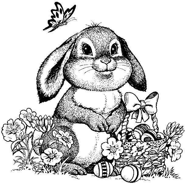 612x605 Easter Bunny Coloring Sheets