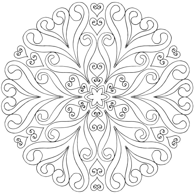 Free Adult Mandala Coloring Pages