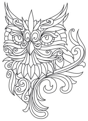 Free Adult Owl Coloring Pages