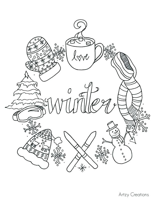 618x800 Free Printable Winter Coloring Pages Winter Coloring Pages