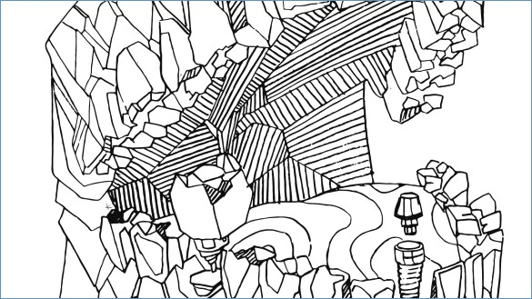 585x329 Freezing On Snow Winter Coloring Page