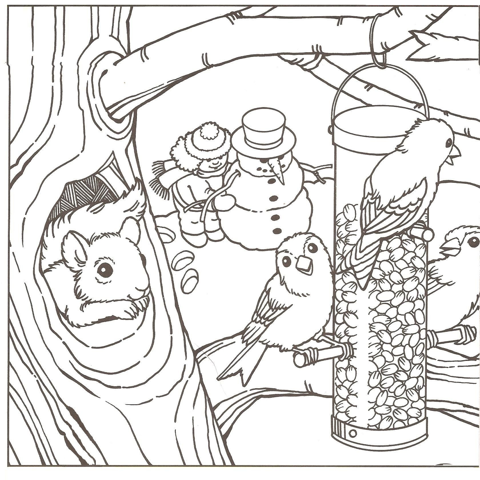 1680x1680 Winter Coloring Pages For Adults Printable Acpra