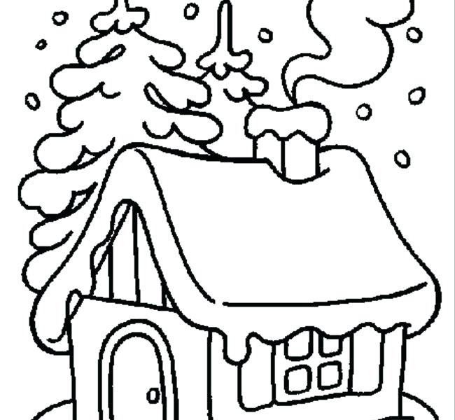 650x600 Free Winter Coloring Pages Printable