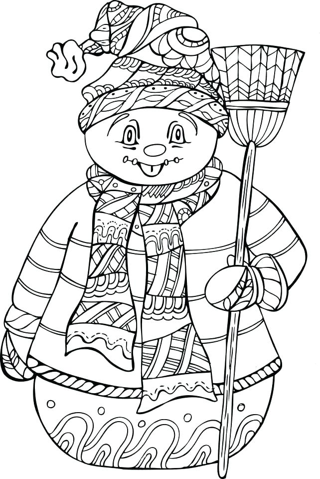 642x960 Winter Holiday Coloring Pages