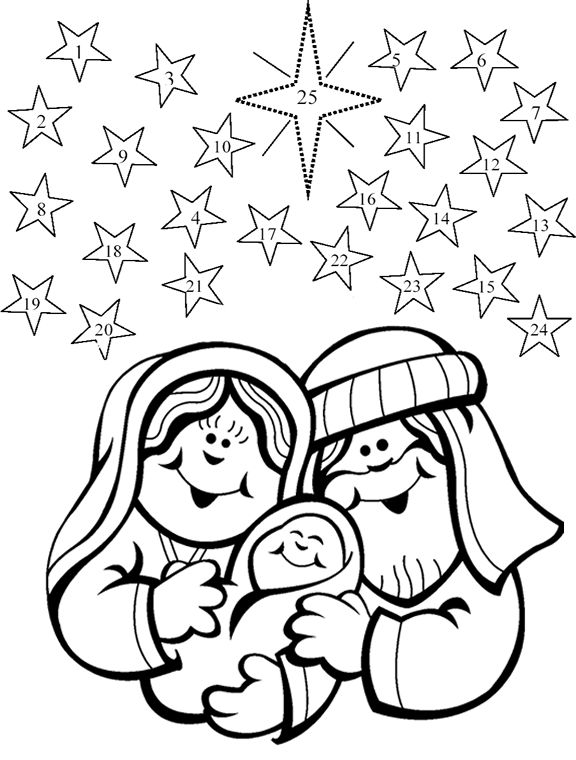 Free Advent Coloring Pages