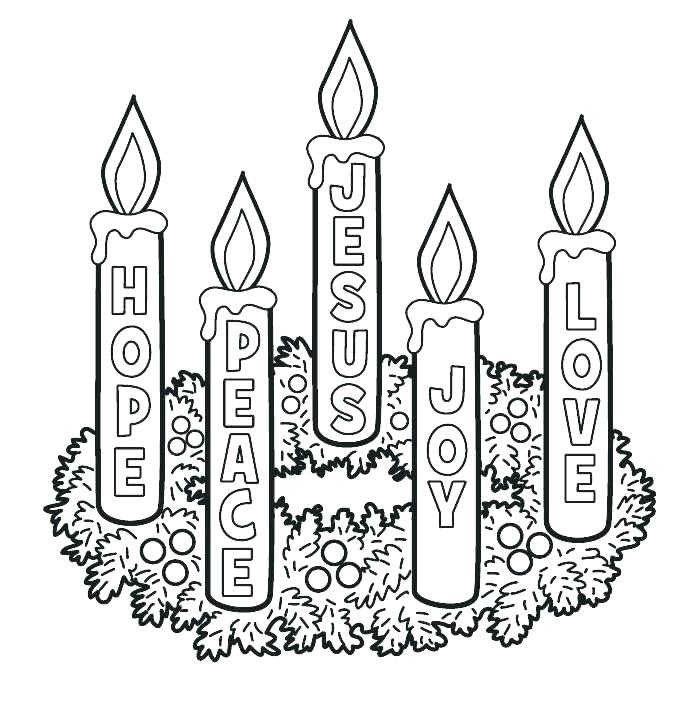700x710 Advent Coloring Pages Free Printable Advent Wreath Coloring Pages