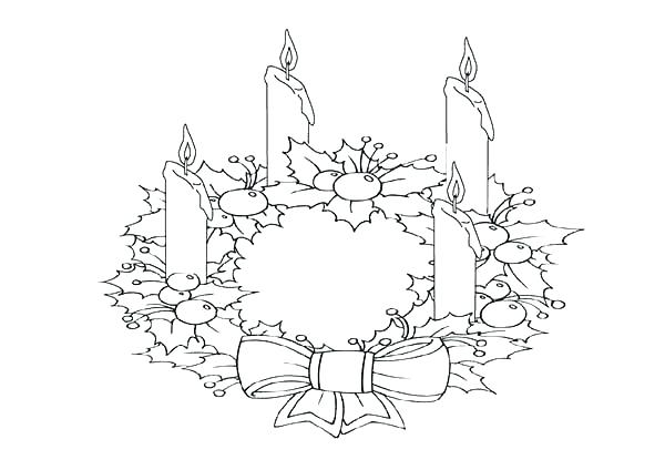 600x424 Advent Wreath Coloring Page Free Printable Advent Wreath Coloring